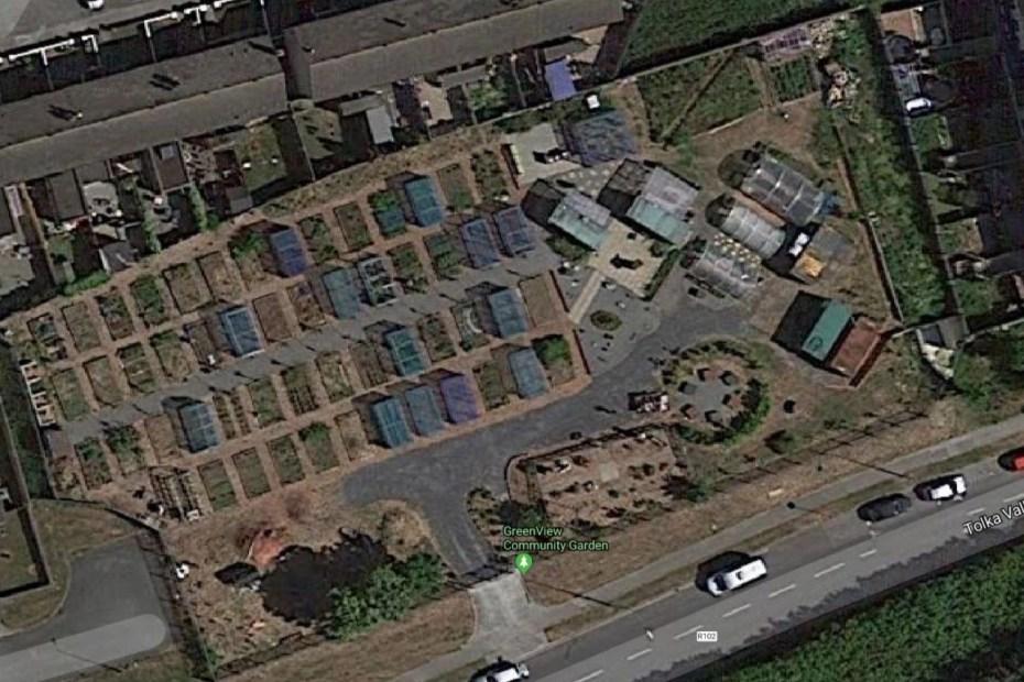 Aerial View Greenview Community Garden