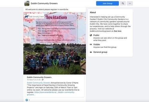 screenshot of Facebook AGM poster