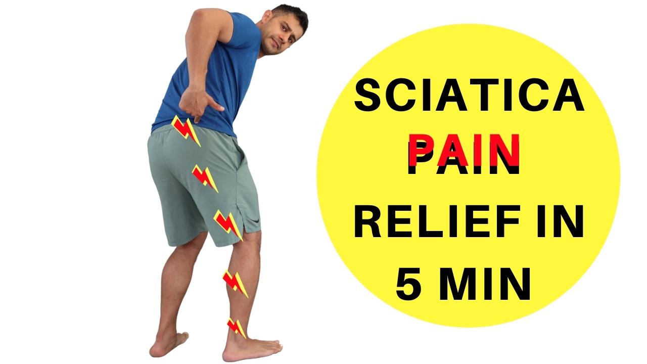 Sciatica pain relief in 5min