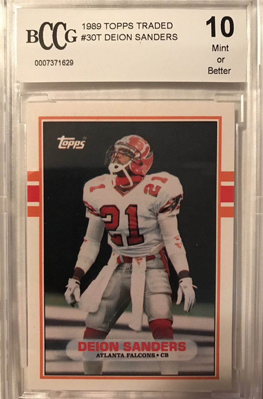 1989 Topps Traded Deion Sanders – There are so many things to like about  this card. First a6a01784d