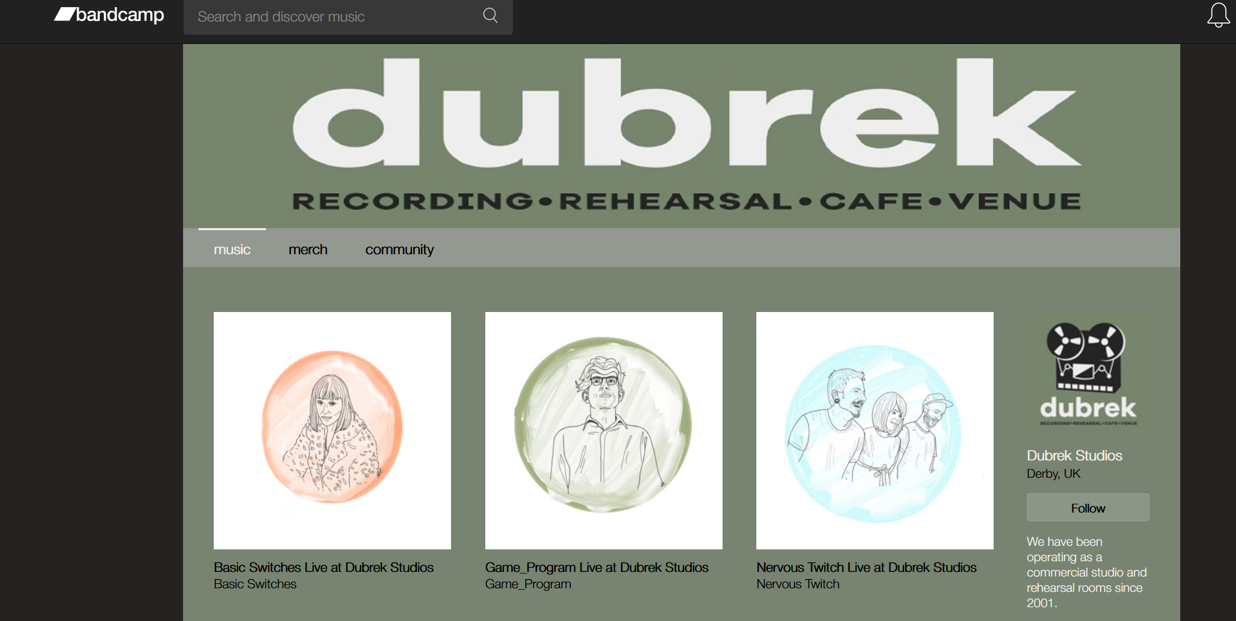 Check out our Bandcamp archive!