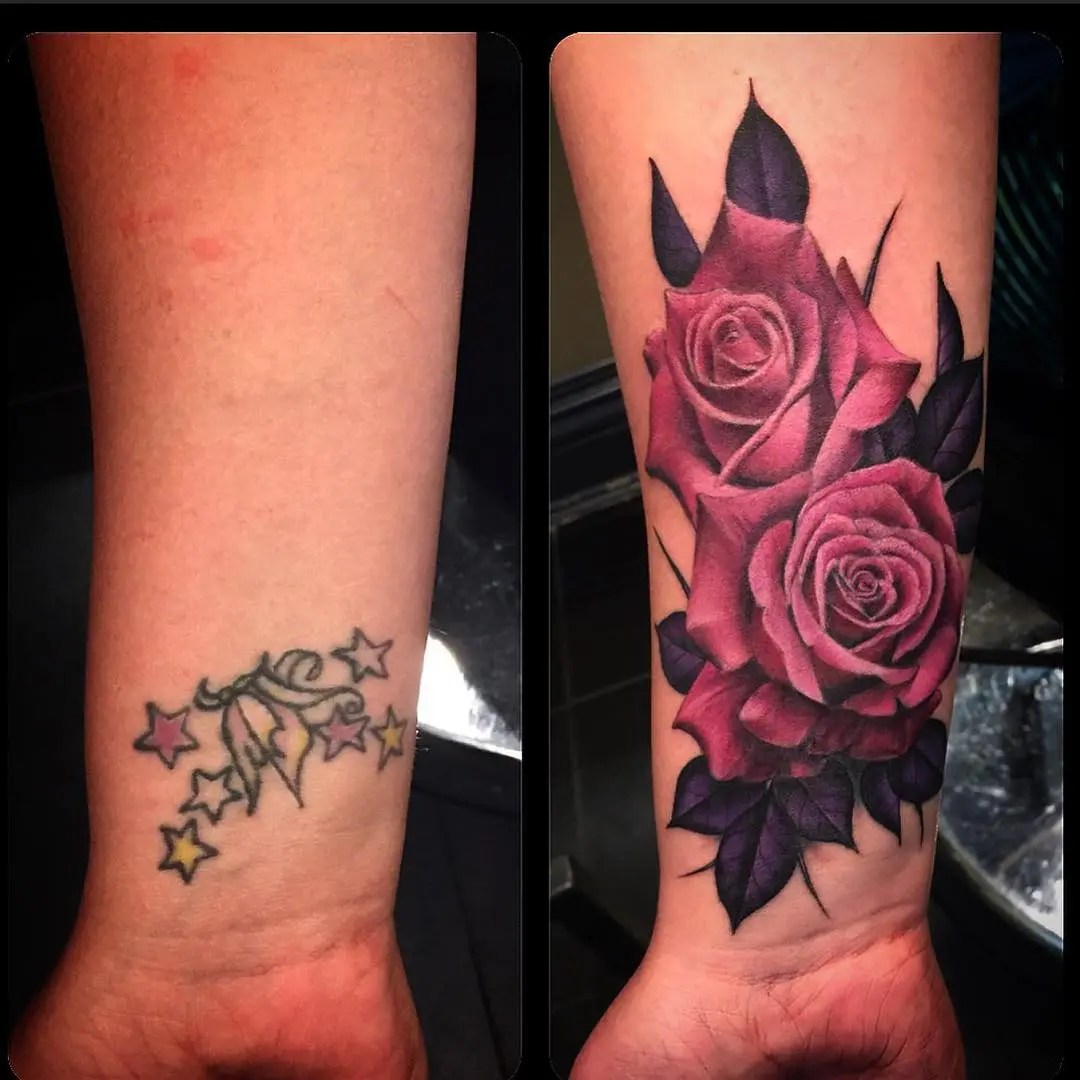 Rose Cover Up Tattoos | Best Tattoo Ideas Gallery