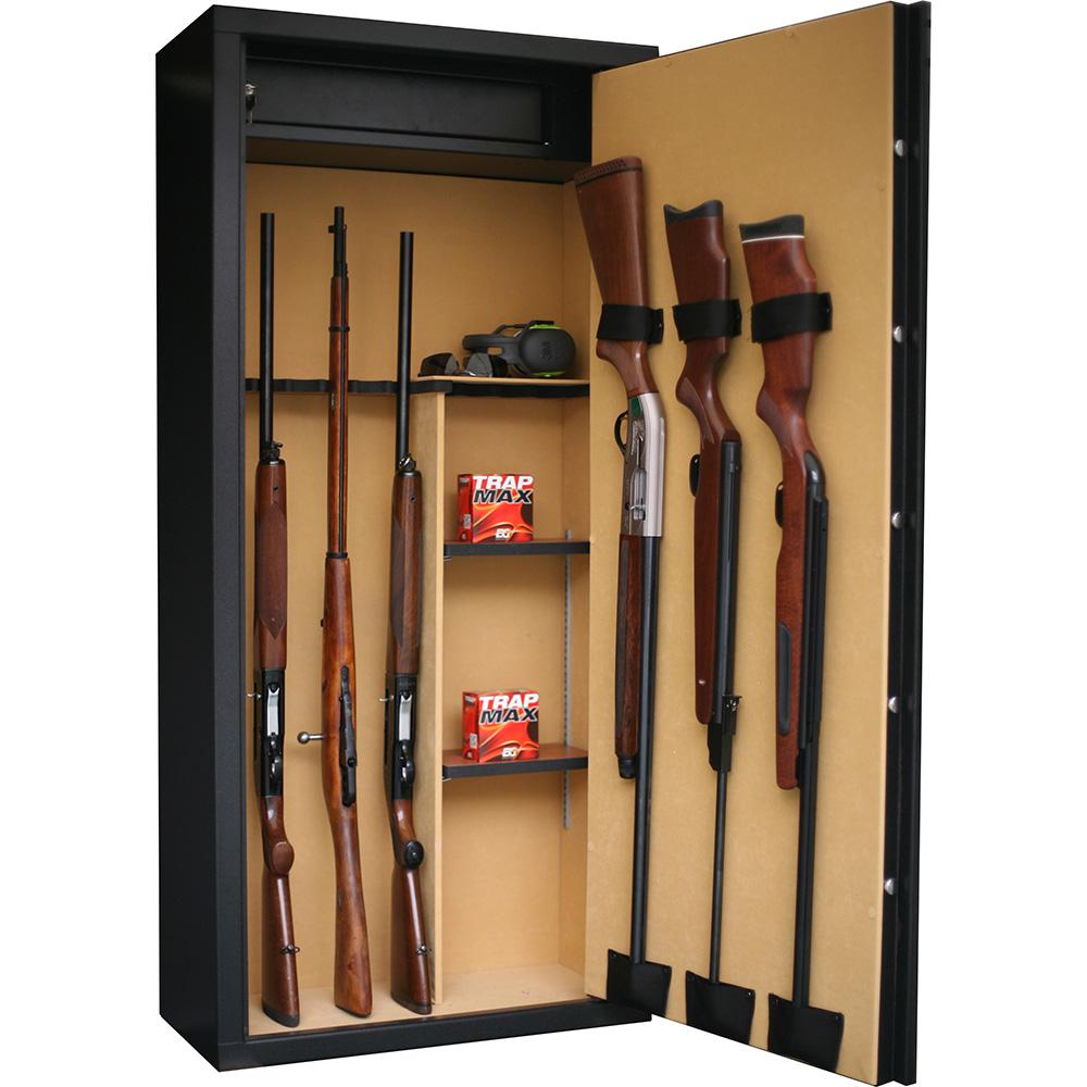 armoire forte 14 armes avec lunette serrure electronique