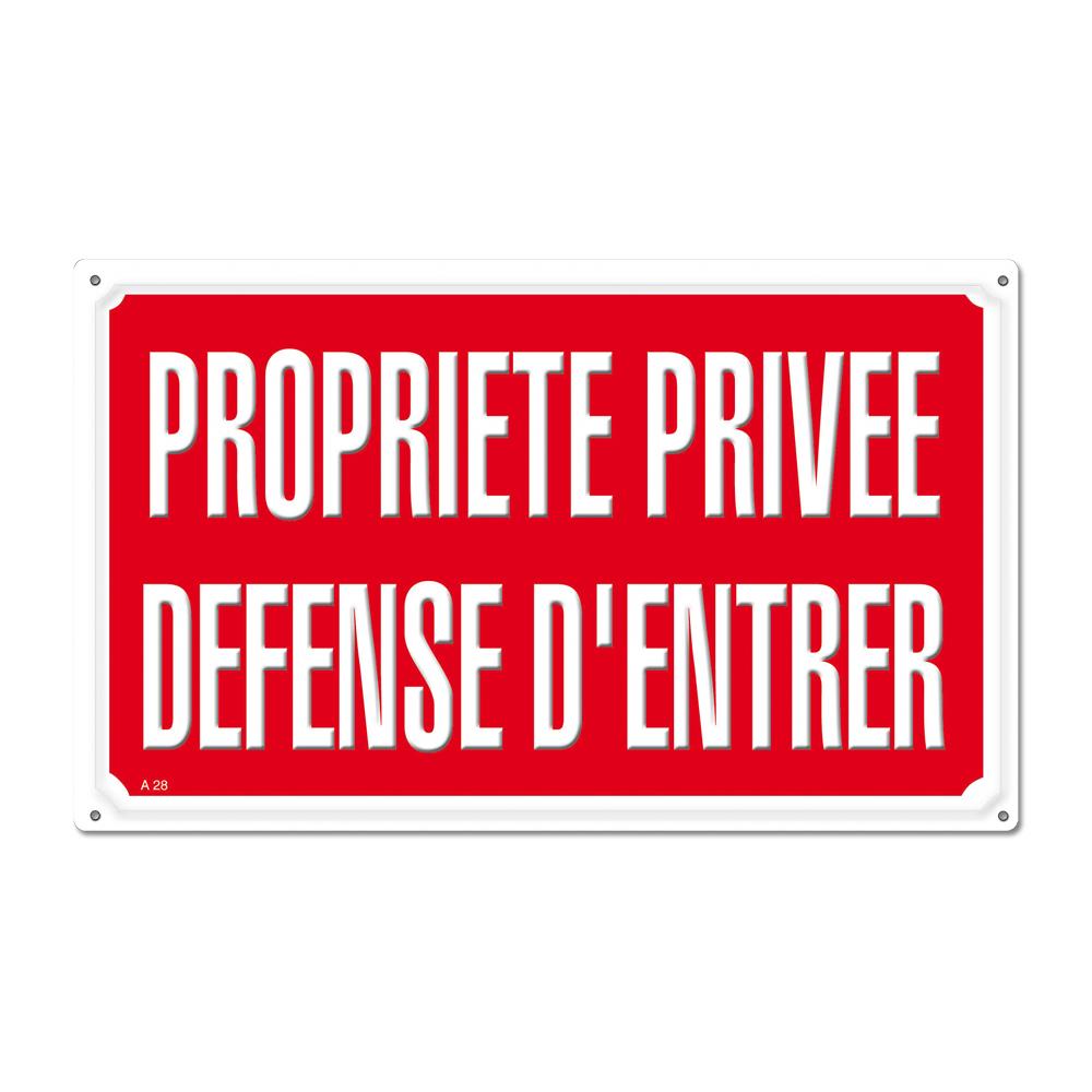 Panneau Signaletique Propriete Privee Defense D Entrer Chasse Ducatillon