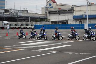 ヤマハ親子バイク教室 隊列