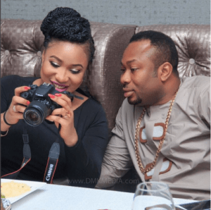 Tonto-Dikeh-and-husband-Churchill-Olakunle-Oladunni-at-her-surprise-birthday-party