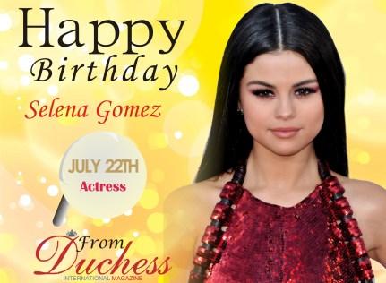 BSelena Gomez irthday wish