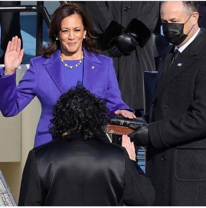 Kamala Harris sworn in