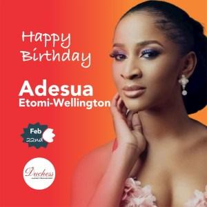 Happy Birthday Nollywood star Adesua Etomi