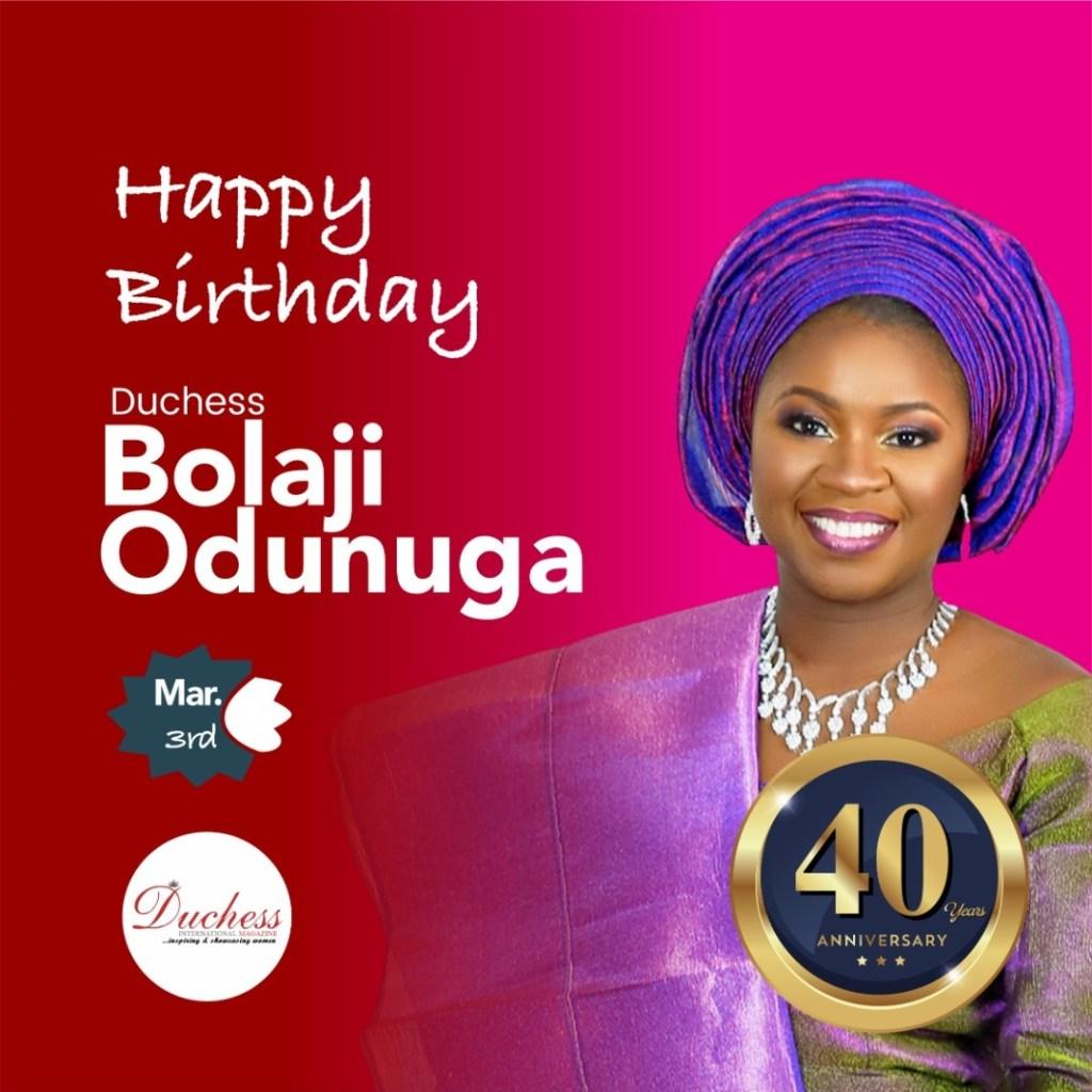 Happy 40th Birthday Duchess Bolaji Odunuga