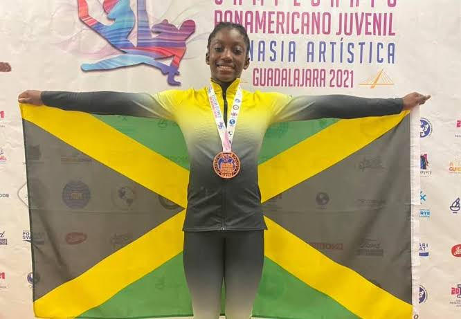14 Year Old Alana Walker Becomes First Jamaican To Win Medal For Gymnastics At An International Competition