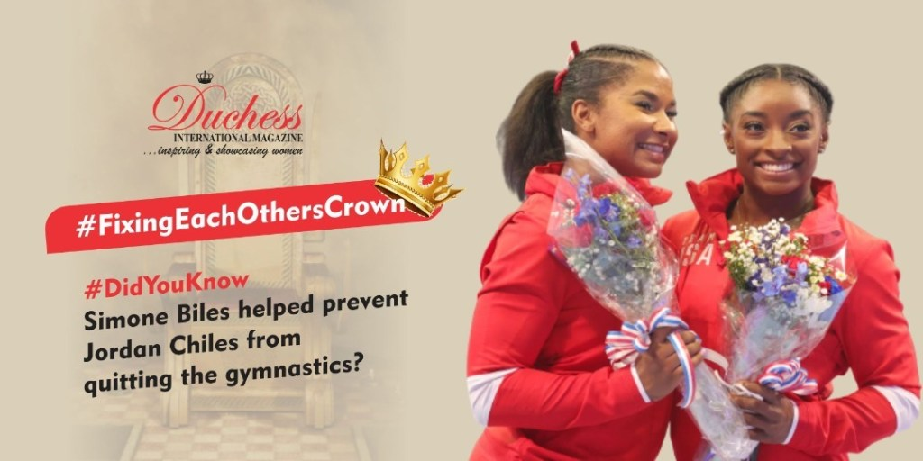 #FixingEachOthersCrown ?♂️?? #DidYouKnow Simone Biles helped prevent Jordan Chiles from quitting the gymnastics?