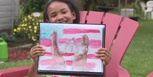 Inspired to depict slavery of her ancestors Gabrielle Faisal's impressive artwork wins National White House Art Competition