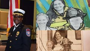 Latosha Clemons Florida city's first Black female firefighter depicted as white