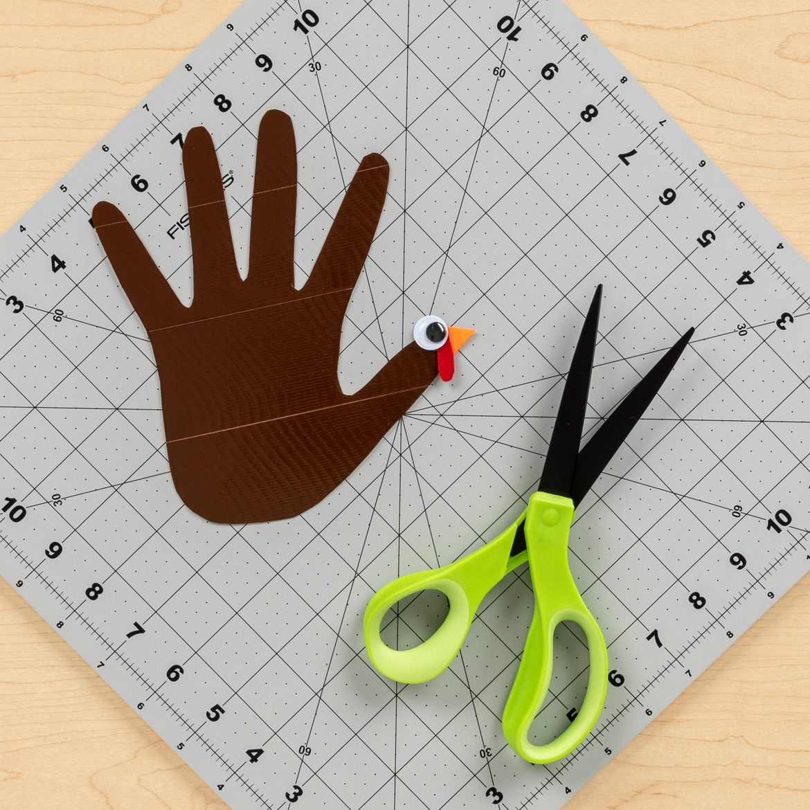 How To Make A Duck Tape Turkey Handprint For Thanksgiving
