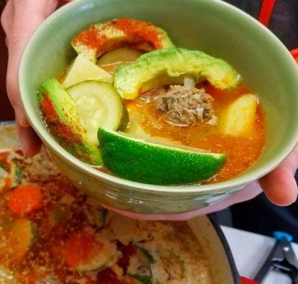 Duckinapot.com Albondigas Soup El Burrito Jr. Copycat