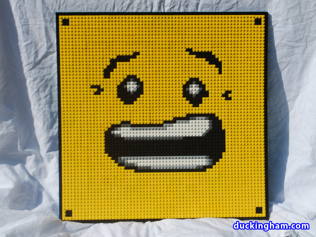 lego mosaic pinned heads scream   Duckingham Design lego mosaic pinned heads scream