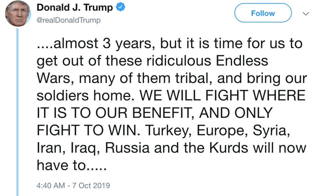"""Restraint requires more than """"ending endless wars"""""""