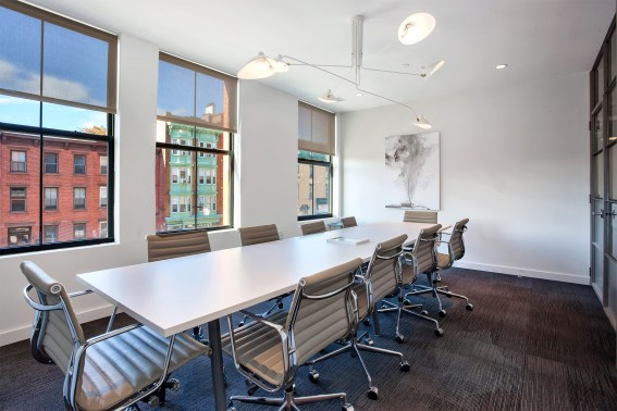 Conferences may go over time in a space that caters to the worker with cozy touches.
