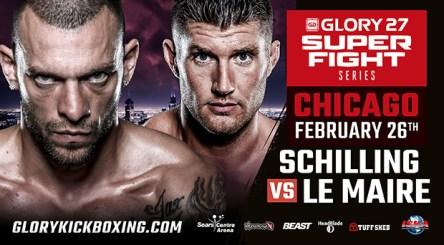 Joe Schilling vs Mike Lemaire headlines Chicago GLORY 27