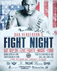 Dan Henderson's Fight Night amateur results