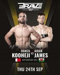 BRAVE CF 42: Hamza Kooheji and Aidan James to clash