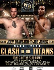 Joey Dawejko to now take on Joe Jones on Saturday, April 3rd