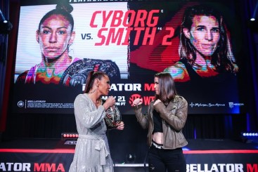 BELLATOR MMA Champ Cris 'Cyborg' Defends Featherweight World Title in Rematch Against Leslie Smith on SHOWTIME