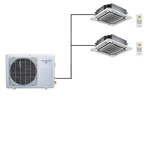 Thermocore 60000 BTU Quint Zone Ductless Mini Split Air Conditioner Heat Pump 12000 x 5 X