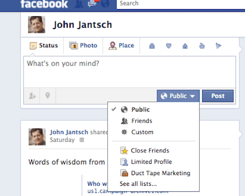 Facebook subscribe to public