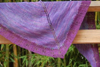 purple shawl