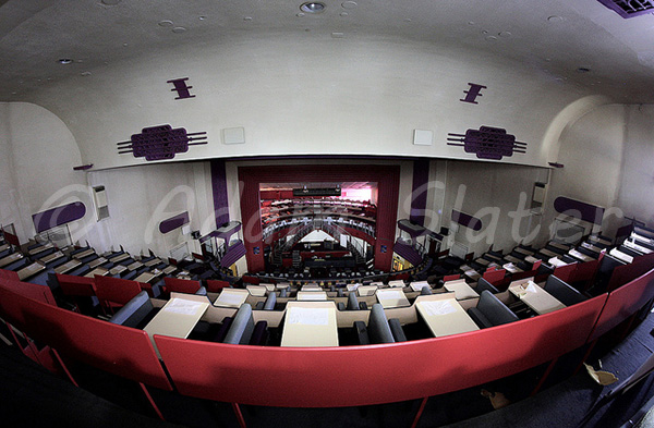 Another shot of the stage from the back of the balcony showing the superb view, atmosphere and potential of this wonderful venue that is the Dudley Hippodrome. © Adam Slater.
