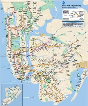 Mapa Metrô NY