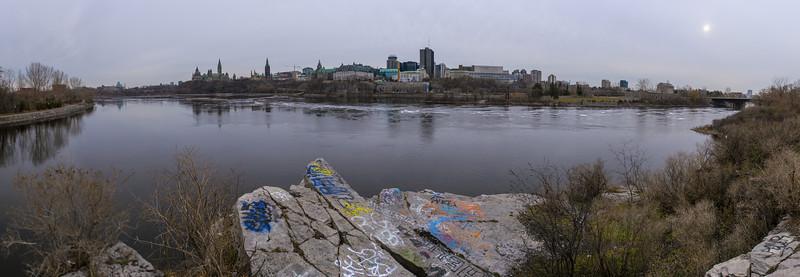Graffiti on the Ottawa River