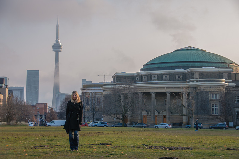 I took Machelle for a walk through the U of T campus.