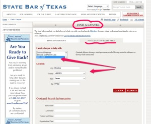 How to search an attorney on the Texas State Bar Website