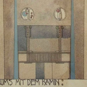 Charles Rennie Mackintosh. 'House for an Art Lover' design detail. 1901.