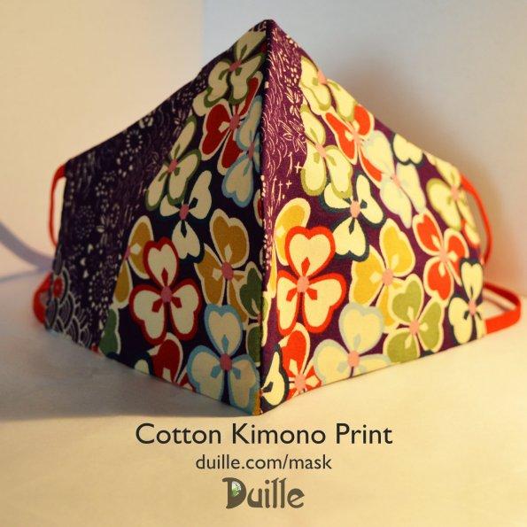 Cotton Kimono Print Face Mask