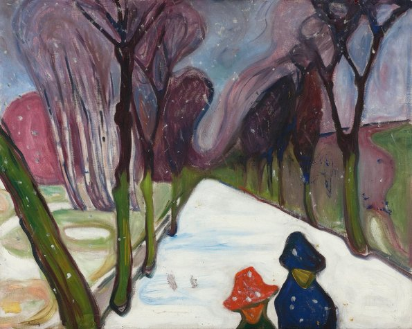 """New Snow on the Avenue"". Edvard Munch. 1906."