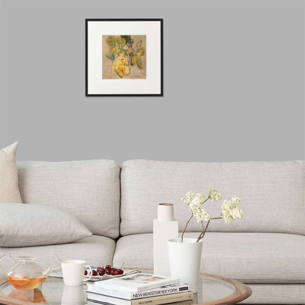 Winter Rose A4 print framed