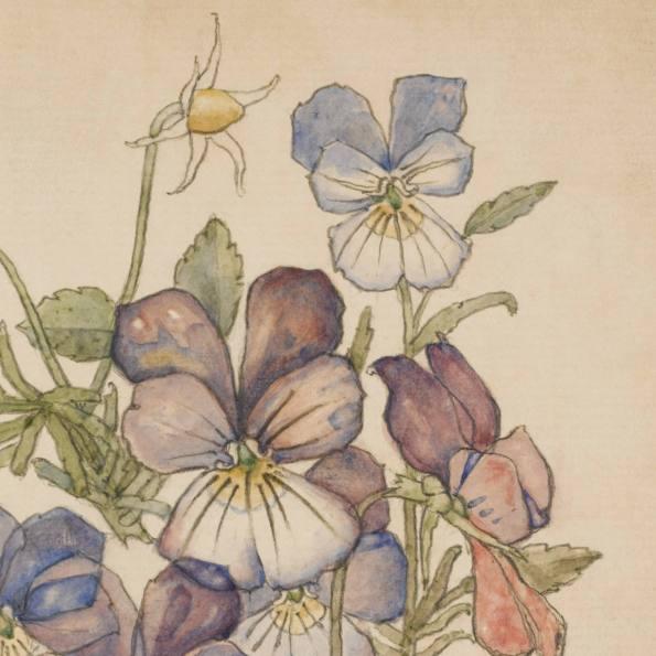 Detail: Heart's - Ease, Walberswick. Charles Rennie Mackintosh.