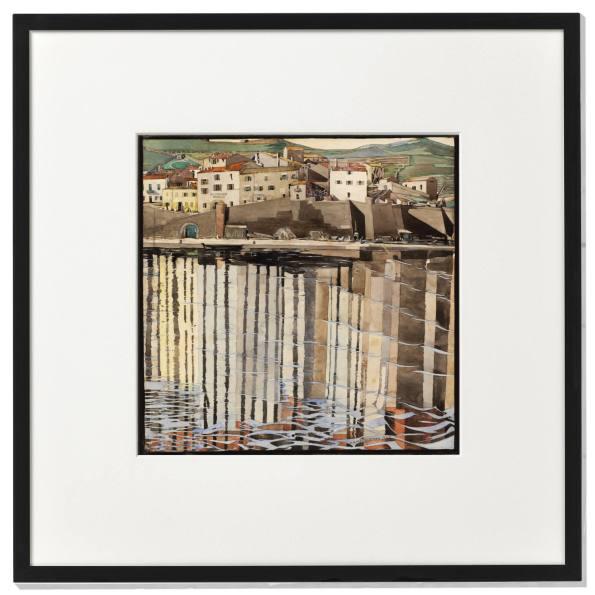 La Rue du Soleil, Port Vendres. Charles Rennie Mackintosh. - framed print.