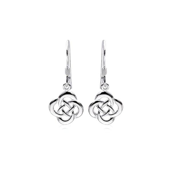 Celtic knotwork drop earrings
