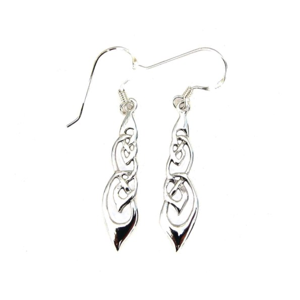 Celtic twisted knotwork earrings
