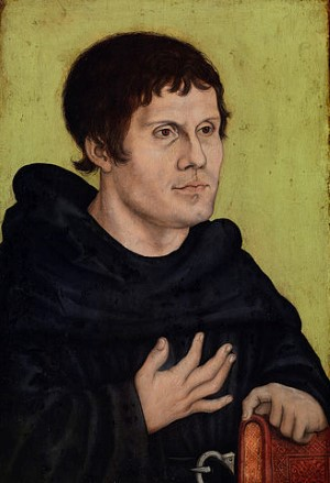 Luther als Augustijner monnik. Portret door Lucas Cranach de oudere.
