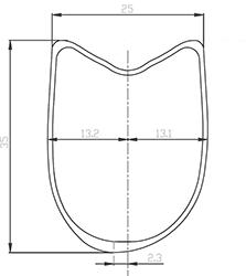 Section jante BACCARA 35 T Asymétrie