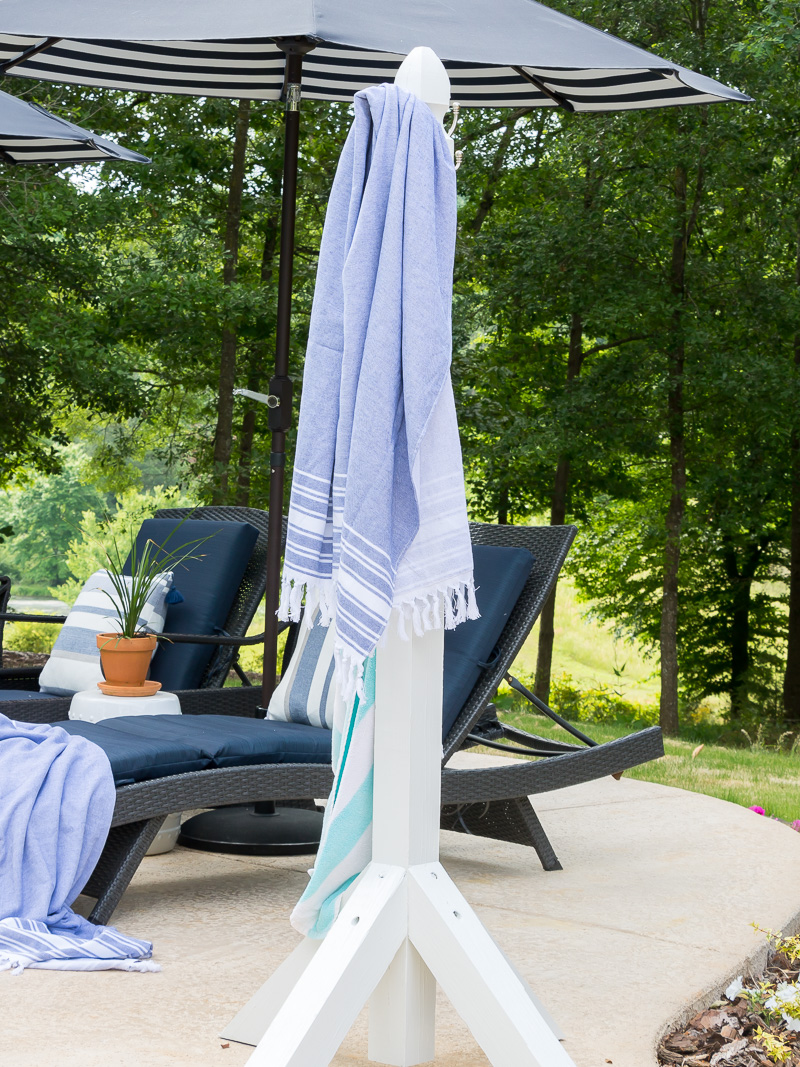 diy poolside towel holder duke manor farm