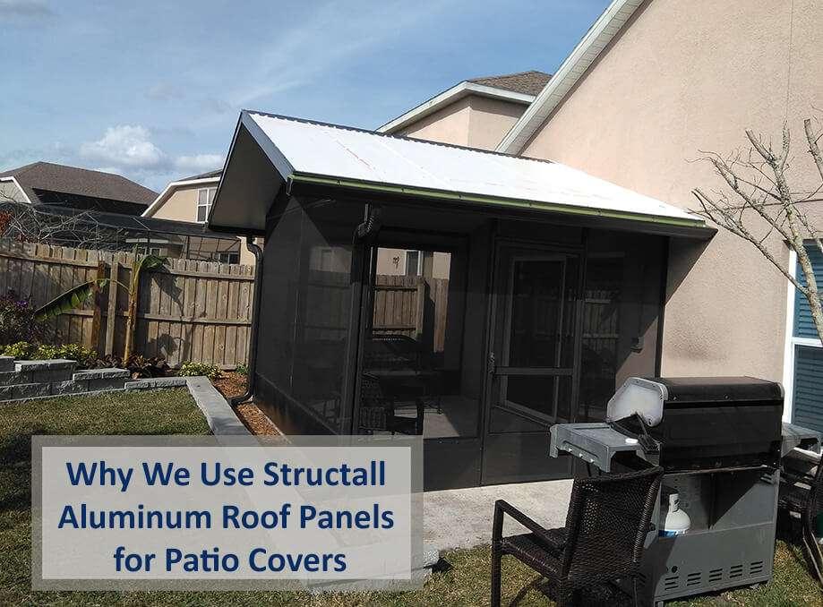 use structall aluminum roof panels