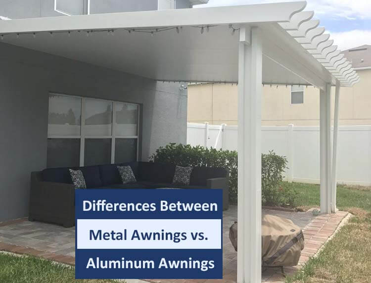 steel metal awnings vs aluminum awnings