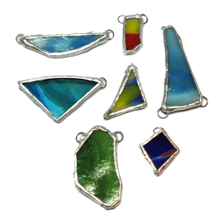 More stained glass pendants dulcey heller aloadofball Gallery